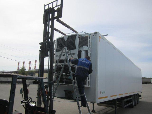 Монтаж автономной холодильной установки H-THERMO SKADI на полуприцеп